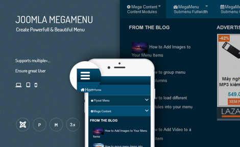 mega menu joomla 3